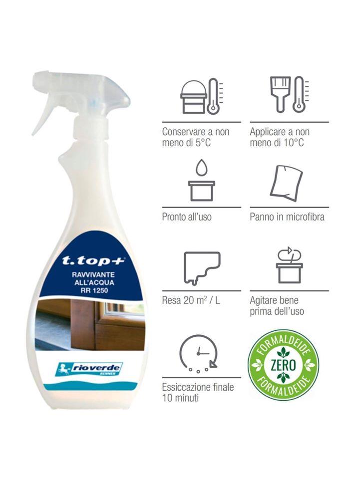 RAVVIVANTE T.TOP+ Ravvivante a spray per infissi in legno, pvc e alluminio